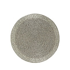 Debenhams - Silver beaded placemat