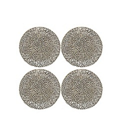 Debenhams - Set of four silver beaded coasters