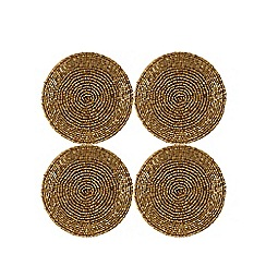 Debenhams - Set of four gold beaded coasters