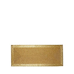 Debenhams - Gold beaded runner