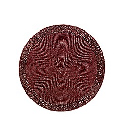 Debenhams - Red beaded round placemat