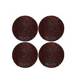 Debenhams - Set of four red beaded coasters