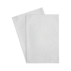 Debenhams - Set of two silver metallic placemats