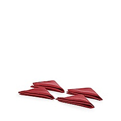 Debenhams - Red metallic table runner