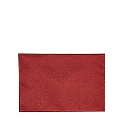 Debenhams - Set of two red metallic placemats