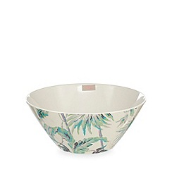 Butterfly Home by Matthew Williamson - Cream tropical print large bowl