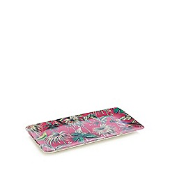 Butterfly Home by Matthew Williamson - Pink tropical print sandwich tray