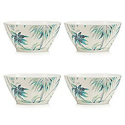 Butterfly Home by Matthew Williamson - Cream floral print cereal bowl