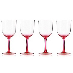 Butterfly Home by Matthew Williamson - Set of four pink ombre-effect wine glasses