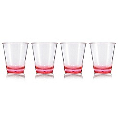 Butterfly Home by Matthew Williamson - Set of four pink 'Eden' acrylic tumblers