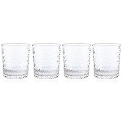 Debenhams - Set of four hammered tumbler glasses