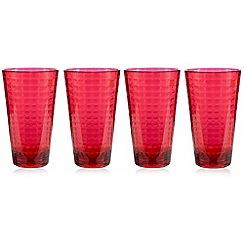 Ben de Lisi Home - Set of four pink textured hi-ball glasses