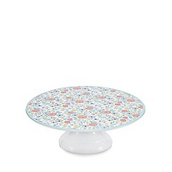 At home with Ashley Thomas - Ditsy floral print cake stand