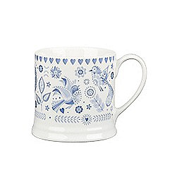 Queens - 'Penzance' mini elm mug