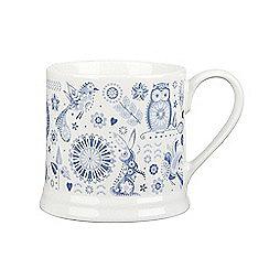 Queens - 'Penzance' midi elm mug