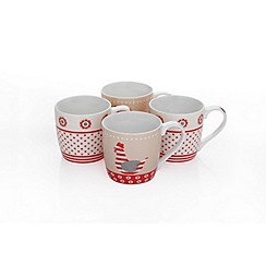 Sabichi - Set of 4 'Chickens' mugs