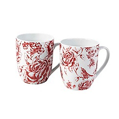 Inspire - Country floral set of 4 mugs