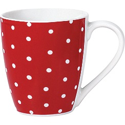 Sabichi - Sabichi red mono spots 4 pack mug set