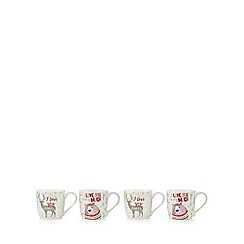 Sabichi - Pack of four Bear & Deer mugs