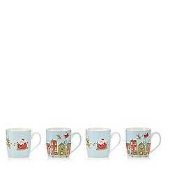 Creative Tops - Pack of four Santa mugs