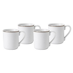 Royal Doulton - Platinum trim 4 piece mug set