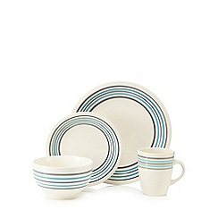 Debenhams - Blue striped 16 piece dinner set