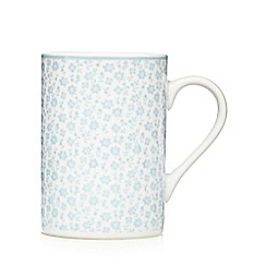 At home with Ashley Thomas - Set of four light blue porcelain mugs