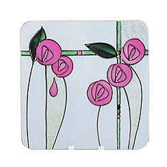 Creative Tops - Tiffany pink glass set of 6 coasters