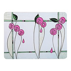 Creative Tops - Tiffany pink glass set of 6 placemats