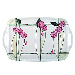 Ben de Lisi Home - Tiffany pink glass large tray