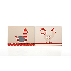 Sabichi - Set of 6 'Chickens' placemat