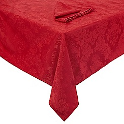 Debenhams - Red large floral table cloth
