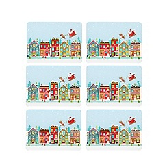 Ben de Lisi Home - Set of six Santa coasters