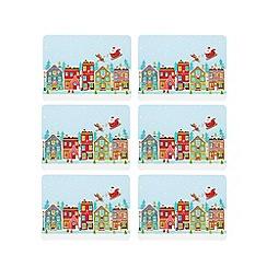 Ben de Lisi Home - Set of six Santa coasters