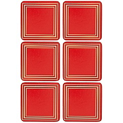 Creative Tops - Set of six red coasters