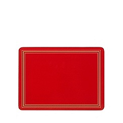 Creative Tops - Set of six red placemats