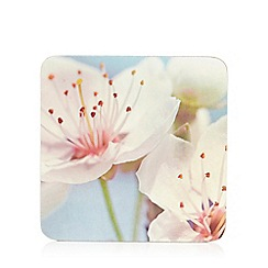 Debenhams - Set of six blossom flower coasters