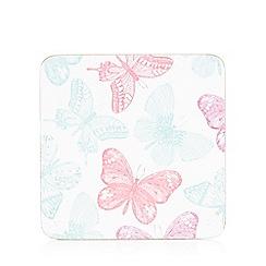 Debenhams - Set of six butterfly print coasters