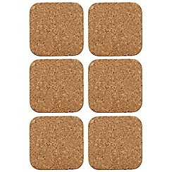 T&G Woodware - Set of six cork coasters