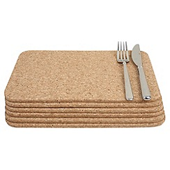 T&G Woodware - Set of six cork placemats