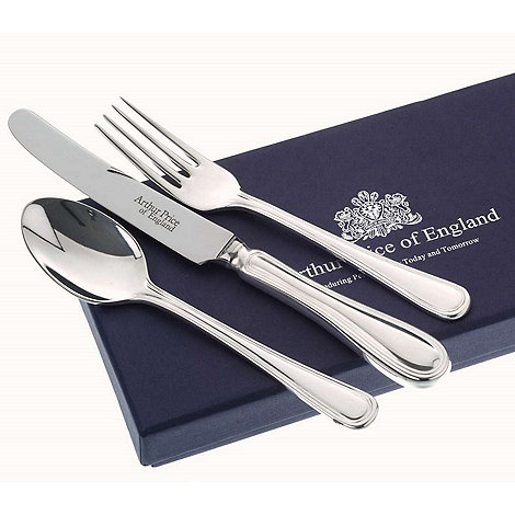 Arthur Price - 3 Piece Stainless Steel Child'S Set In Britannia Design
