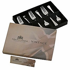 Arthur Price - Vintage stainless steel box of 6 English pastry forks