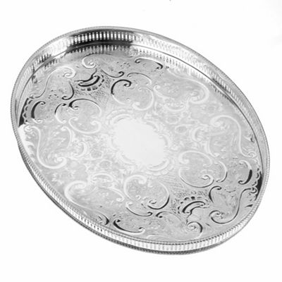 Arthur Price 15 1/4inch Oval Mounted Gallery Tray - . -