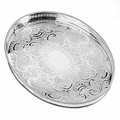 Arthur Price - Silver plated home tableware 15.25 inch oval mounted Gallery Tray
