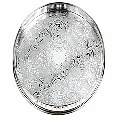 Arthur Price - Silver plated home tableware 14 inch round embossed Gallery Tray