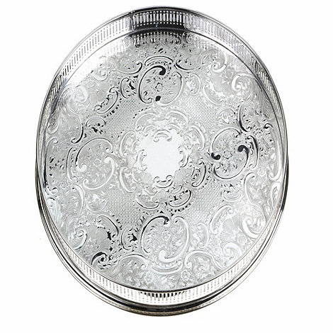 Arthur Price - 14inch Round Embossed Gallery Tray