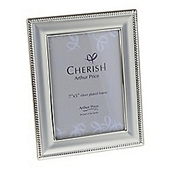 Arthur Price - 'Bead' silver plated Photo Frame holds 7 x 5 inch photograph