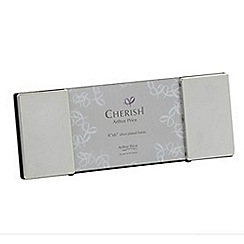 Arthur Price - Cherish silver plated 6x4 inch Oxford photograph frame