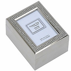 Arthur Price - Silver Plated Diamante Keepsake Box