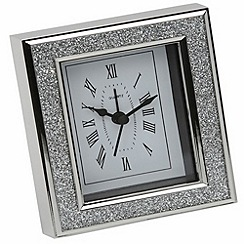 Arthur Price - Silver Plated Diamante Clock
